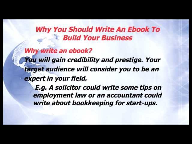 Why You should Write An Ebook To Build Your Business Part 1 - Marketing On A Budget ep 10