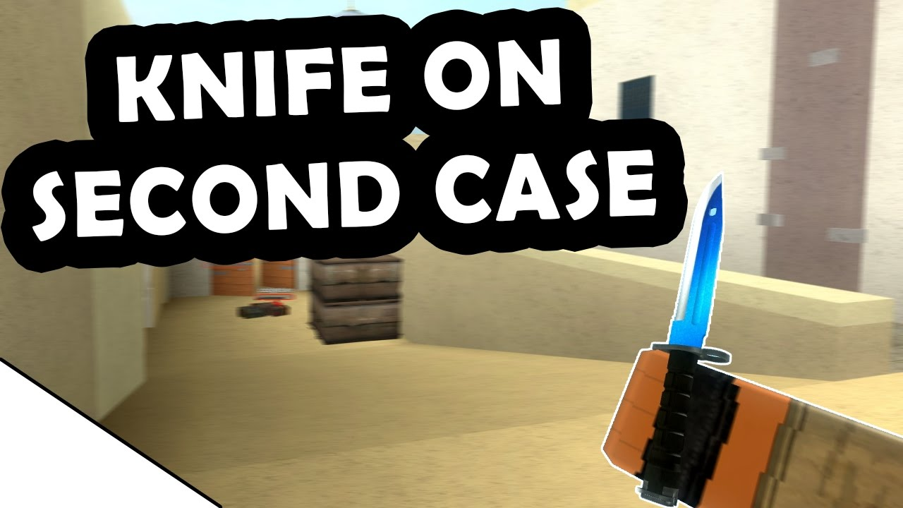KNIFE ON SECOND CASE! - COUNTER-BLOX: ROBLOX OFFENSIVE