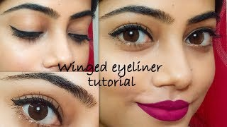 Winged eyeliner tutorial||Step By Step||For Begginers