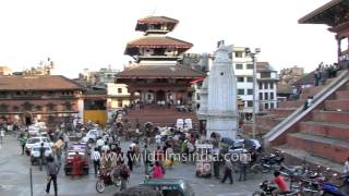 Basantapur Durbar Square in happier times: pre earthquake archival footage