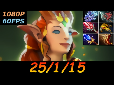 Dota 2 Enchantress Pro 25/1/15 (Kills/Deaths/Assists) Top MMR 517 GPM Ranked Full Gameplay