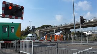 Newhaven Level Crossing Broken Barrier Repairs