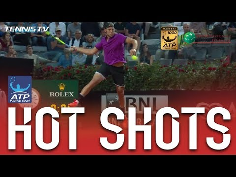 Hot Shot: Sock Leaps Into Forehand At Rome 2017