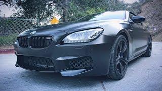 Белая BMW M6 в SATIN BLACK своими руками