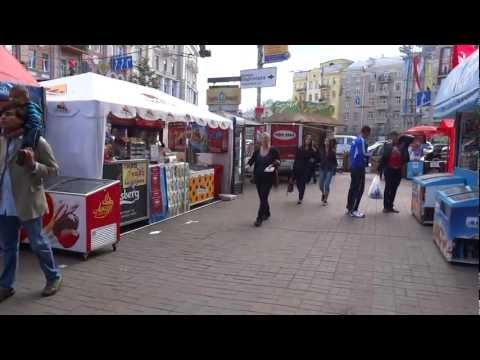 Walking in Khreshchatyk street Kiev, Ukraine