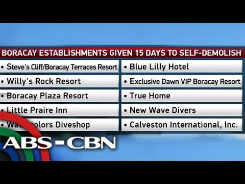 Business Nightly: 10 establishments near Boracay beachfront ordered demolished