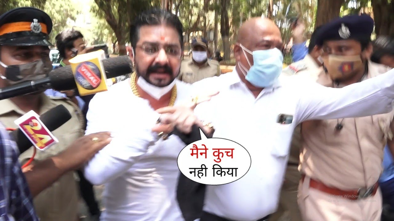 हिंदुस्तानी भाऊ को हुई जेल 😳... Hindustani Bhau Catch from Ambulance by Mumbai Police