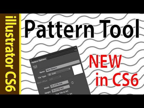 illustrator cs6 Pattern Making Tutorial! Create your own Wave Patterns = )