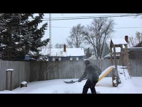 Slow Motion Snow Shovelling
