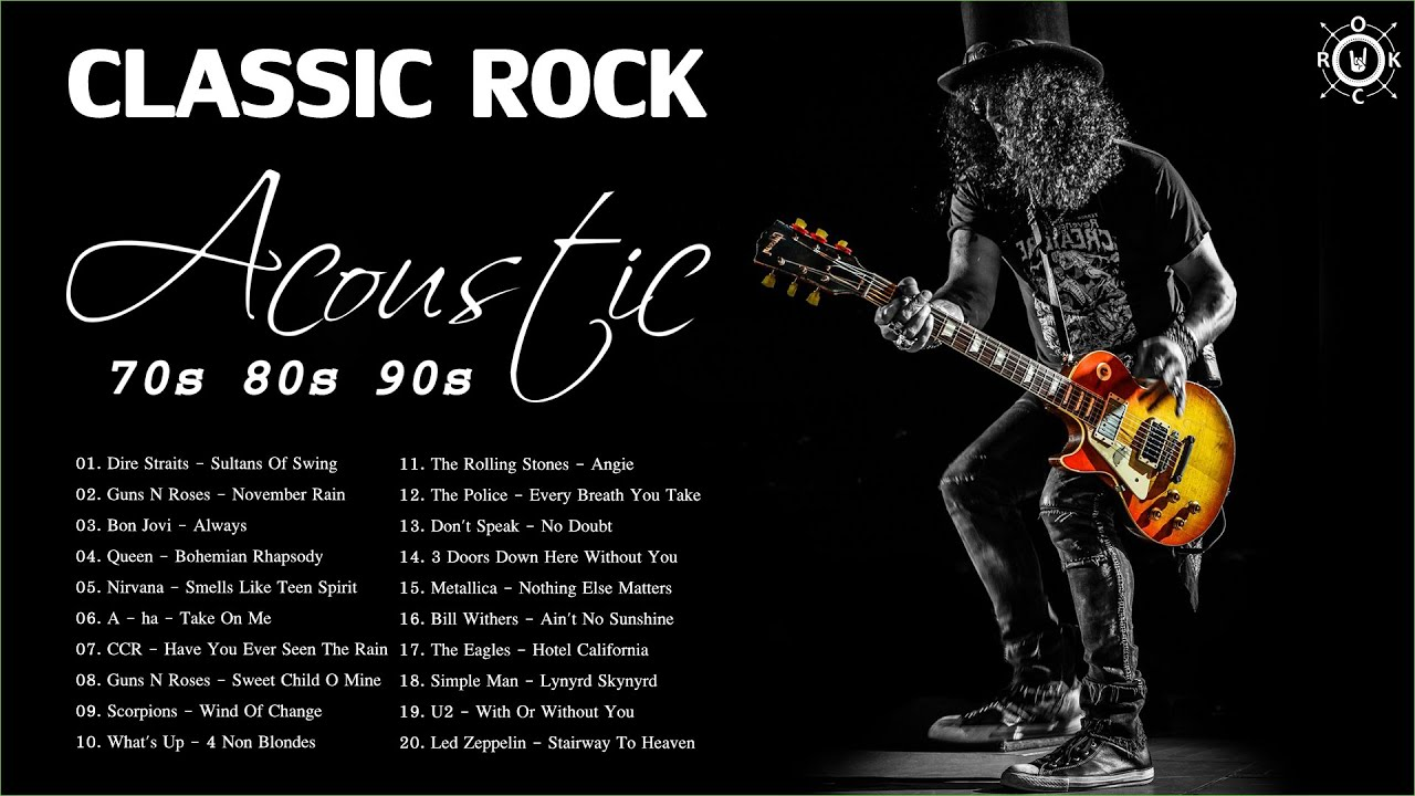 Acoustic Classic Rock Playlist | Top Classic Rock Songs Of 70s 80s 90s