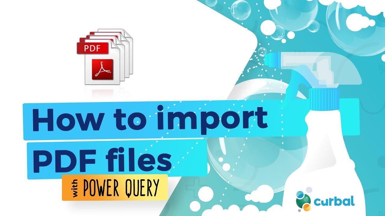 Import From Pdf Into Power Bi Desktop Youtube