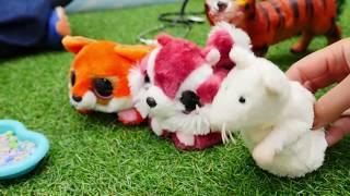 Развивающие мультики: игрушки - животные для самых маленьких
