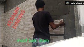 Cara pasang keramik dindin teras lurus dan rapi