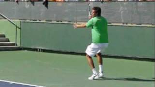 Juan Martin Del Potro Play a Point in Slow Motion