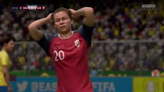 (FIFA Women's National Team Gameplay) Brazil vs Norway (EA SPORTS FIFA 19)