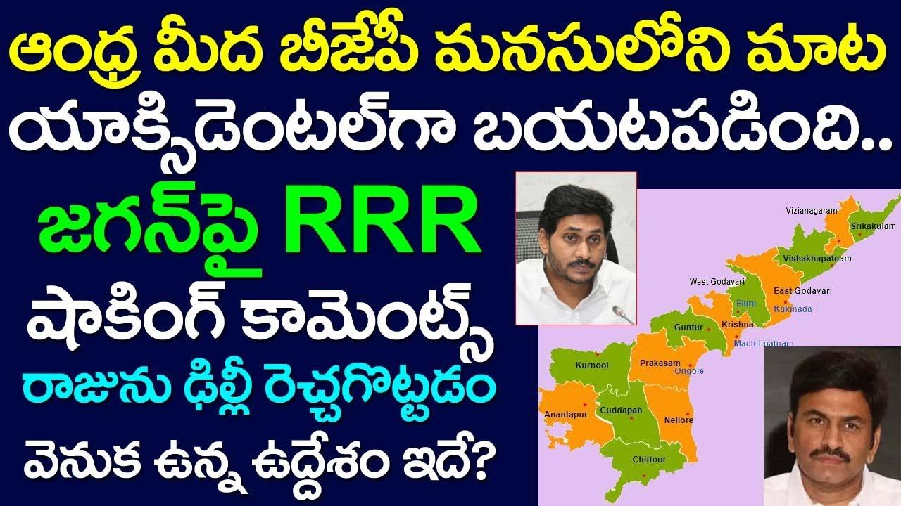 BJP Has Shocking Thought On Andhra Pradesh | Raghu Rama Krishna Raju Sensational Comments on Jagan