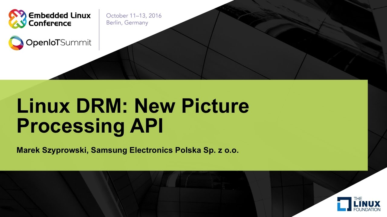Linux DRM: New Picture Processing API