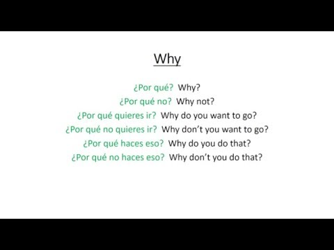 Spanish: Who, What, Where, When, Why, How and How Much