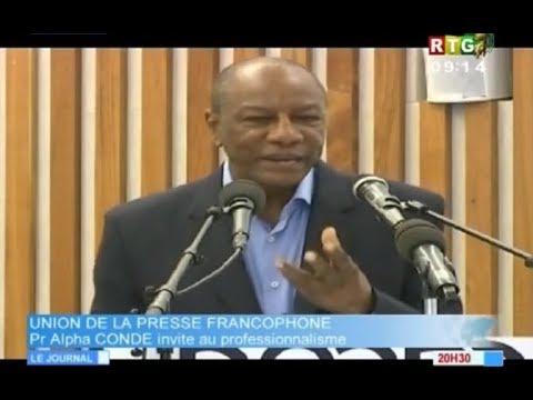 JT RTG DU 25 11 2017. Alpha Condé lance à la presse: le journaliste guinéen n'est pas professionnel
