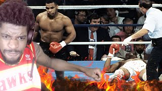 HE JUST KNOCKED HIS HEAD OFF! TOP 10 MIKE TYSON KNOCKOUTS REACTION