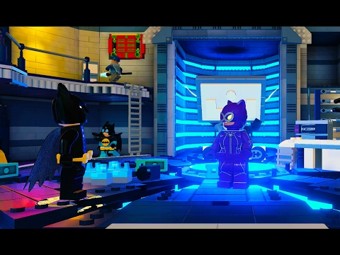 LEGO Dimensions Saving Catwoman at LexCorp Building on The LEGO Batman Movie Adventure World