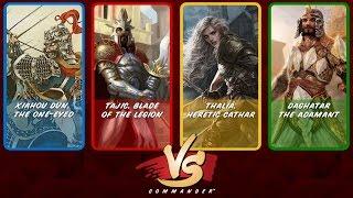 Commander VS S5E4: Xiahou Dun vs Tajic vs Thalia vs Daghatar vs The Horde [Multiplayer MtG]