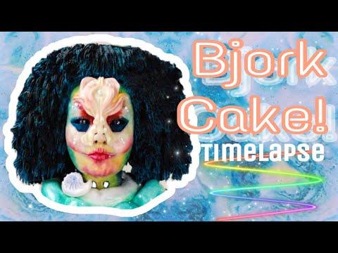 Björk, Utopia inspired cake timelapse