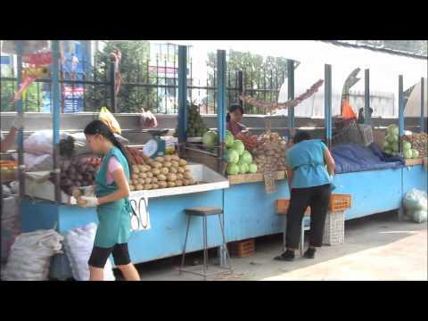 Food Market in Almaty, Kazakhstan (market scenes)