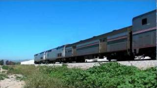 HD- Railfanning SoCal on April Fools Day 4-1-2011 The Pacific Ocean, Hill Shots & Much More!