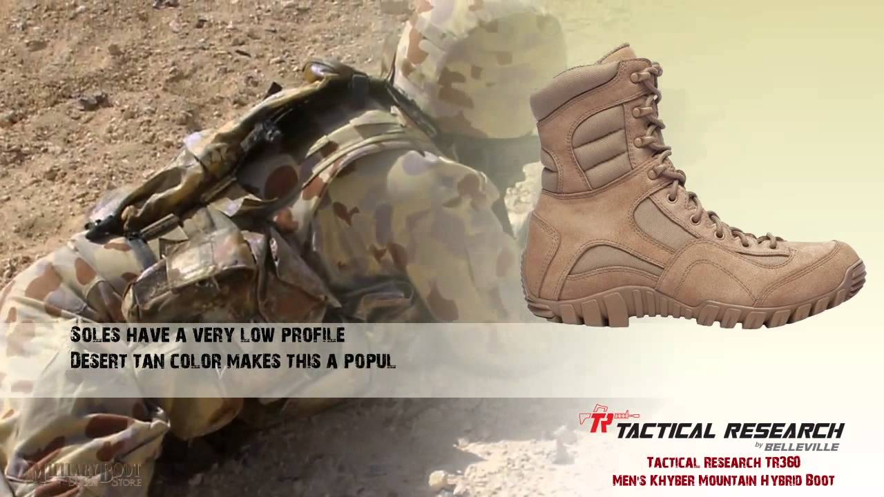 Tactical Research Lightweight Mountain Hybrid Boot High Help Desert Army Boots