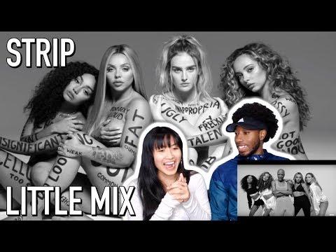 LITTLE MIX - STRIP FT. SHARAYA J | MUSIC VIDEO REACTION