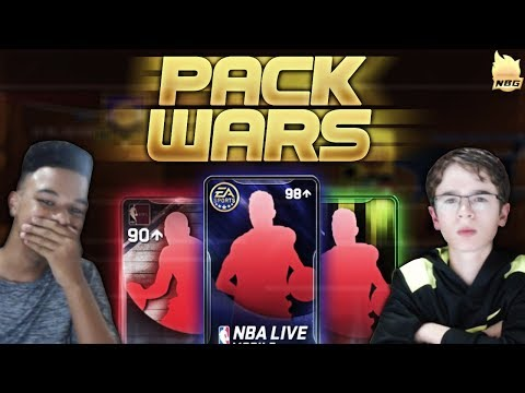 NBA Live Mobile | PACK WARS!!! 98+ QUICKSELL WAGER!!! WHO WILL WIN???😱