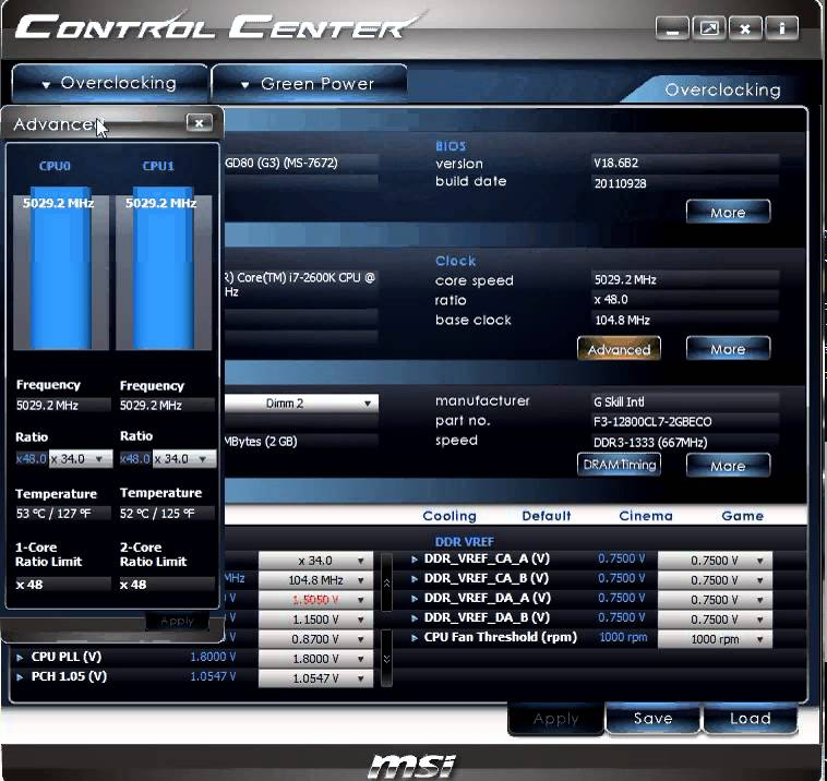 MSI 870A-G55 OverClocking Center Drivers for Windows 7
