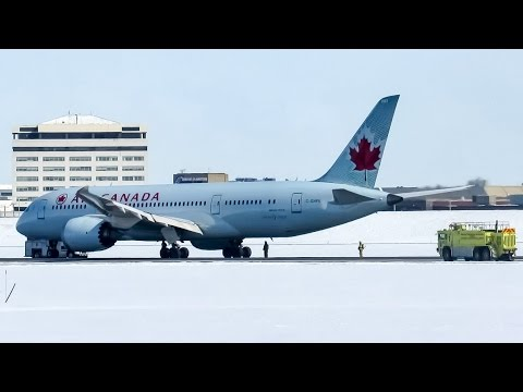 *Emergency landing!* Air Canada 787-8 (B788) landing in Montreal (YUL/CYUL)