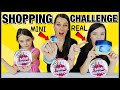 MINI vs REAL!! Unboxing ZURU 5 Surprise MINI BRANDS and WALMART SHOPPING CHALLENGE!!