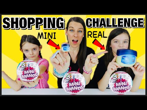 77ee80c17 MINI vs REAL!! Unboxing ZURU 5 Surprise MINI BRANDS and WALMART SHOPPING  CHALLENGE!! – Shopping time