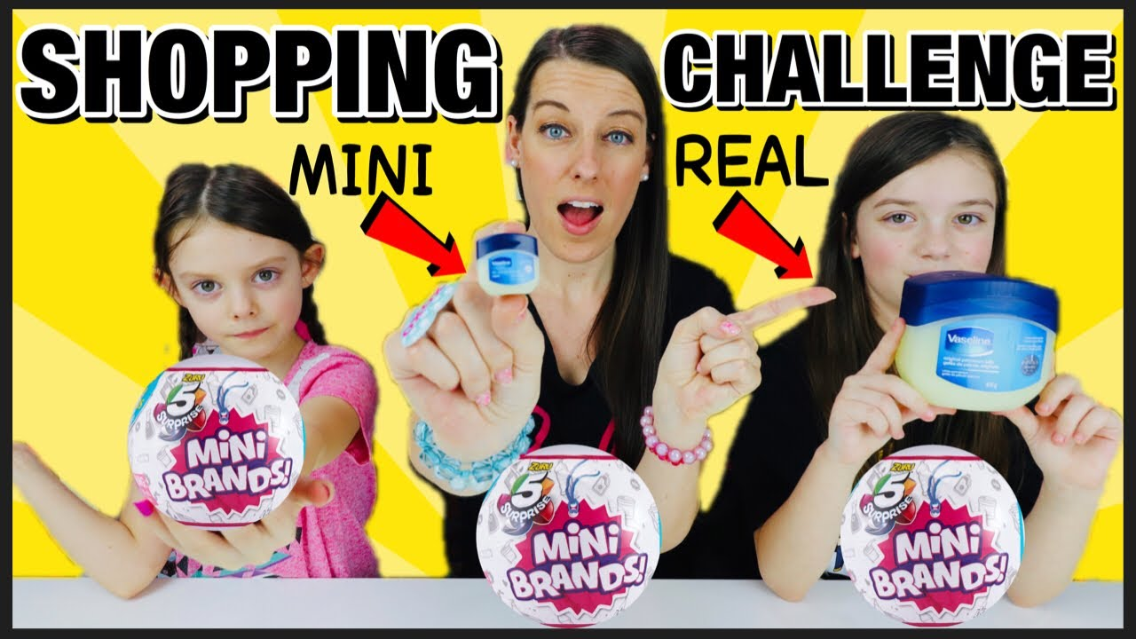 Mini Vs Real Unboxing Zuru 5 Surprise Mini Brands And Walmart