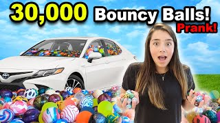 SML Put 30,000 Bouncy Balls In A CAR!!!