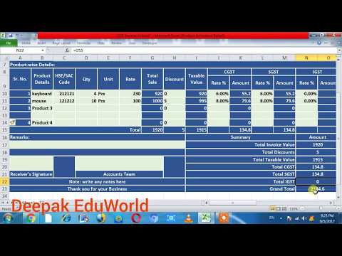 Car Sales Invoice Template How To Make Gst Bill In Excel  Hindi  New Gst Bill Format  Software Invoice Free Pdf with Payment And Receipt Word How To Make Gst Bill In Excel  Hindi  New Gst Bill Format  Gst Invoice  Billing System In Excel Invoice Template Nz Excel Word