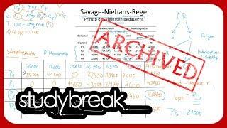 Savage Niehans Regel Regel Des Kleinsten Bedauerns  Betriebswirtschaftslehre