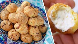 Вкуснейшие СЫРНЫЕ ПРОФИТРОЛИ лучшие заварные булочки с сыром ГУЖЕРЫ 2 0