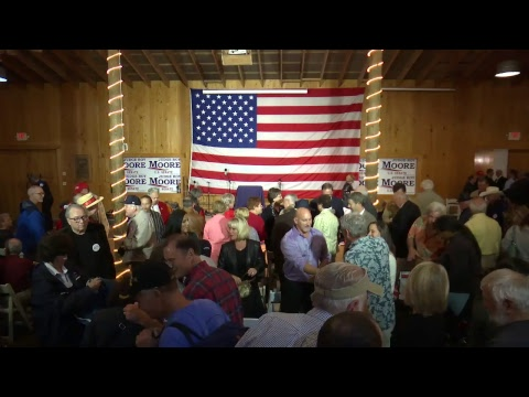 RIGHT NOW:  Roy Moore Event is live...