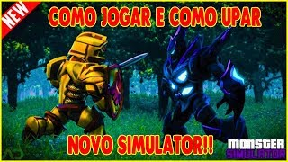 APRENDA COMO JOGAR E UPAR NO NOVO SIMULATOR DO ROBLOX (NEW) Monster Simulator