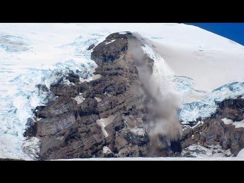 Mount Rainier, Washington - Camp Muir- Rockslide