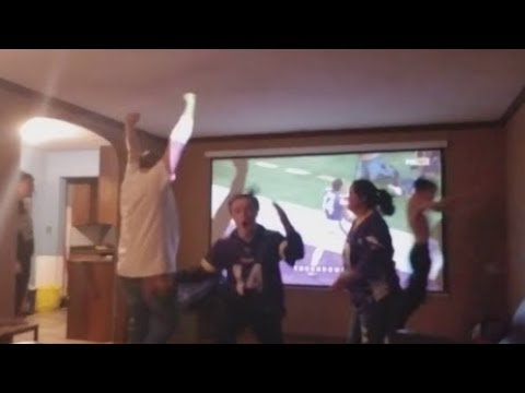 Vikings vs Saints - Best Fan Reactions to Stefon Diggs' game winning Touchdown! (Divisional Round)