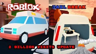 ⭐️🔴 🚨ROBLOX VOLCANO ERUPTION AND NEW VEHICLE COMING TO JAILBREAK AT 2 BILLION VISITS!! #196