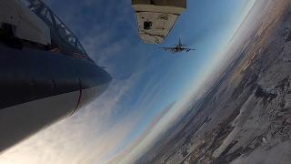 Летно-тактическое учение экипажей штурмовиков Су-25 в Липецкой области