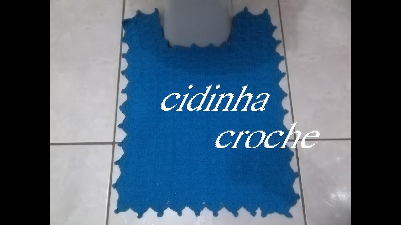 Cidinha Croche Jogo De Banheiro Em Croche Túrqueza Tapete Do Vaso Passo A Passo Parte1