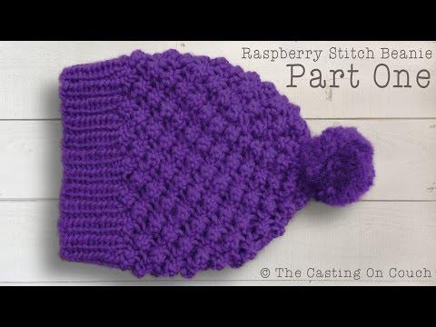 RASPBERRY STITCH BEANIE  How To Knit A Hat