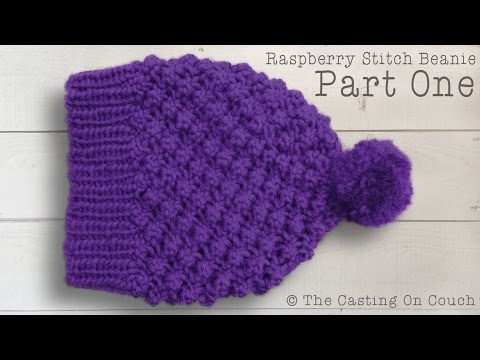 Knit Hat Stitch Calculator : RASPBERRY STITCH BEANIE How To Knit A Hat - Kharasach Latest Video News Por...